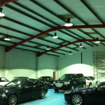 LED High bay floodlight for car showroom